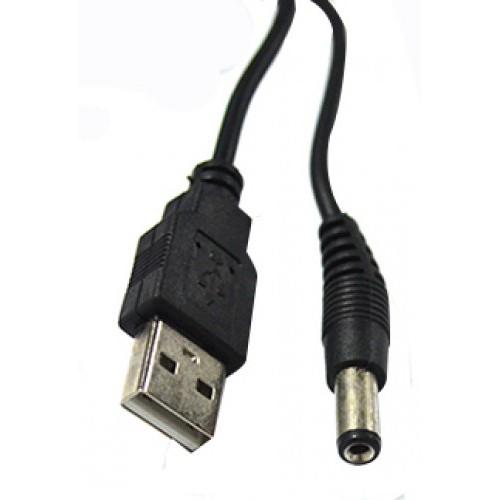 Cabo de Alimentação USB p/ P4 5.5x2.5mm 80cm