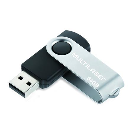 Pen Drive Multilaser Twist USB 2.0 64GB - PD590
