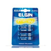PILHA ALCALINA AAA ELGIN LR03 BLISTER C/ 4