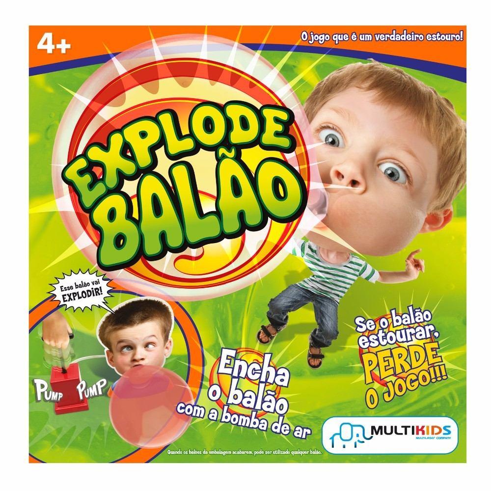 Bubble Gum Game Explode Balão Multikids BR209