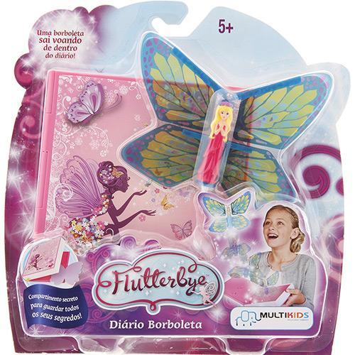 Diário Flutterbye Borboleta Multilaser Multikids - BR217