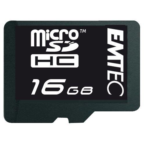 Cartão de Memória + Adaptador Micro-SD HC Classe 4 16GB Emtec