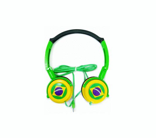 Fone de Ouvido Estéreo Headphones Brasil SW-028