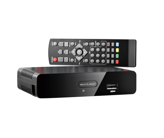 Conversor e Gravador TV Digital Saída HDMI e RCA Multilaser Preto - RE207