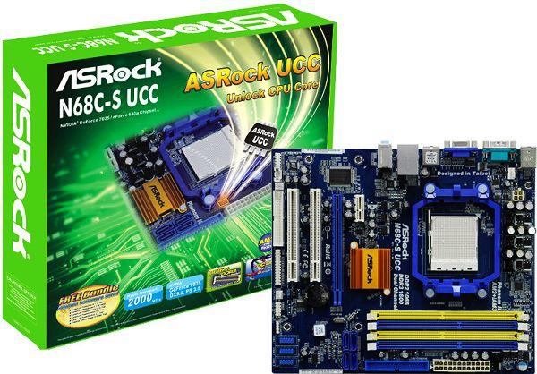 Placa Mãe Asrock N68C-S UCC DDR2/DDR3 AM2/AM3