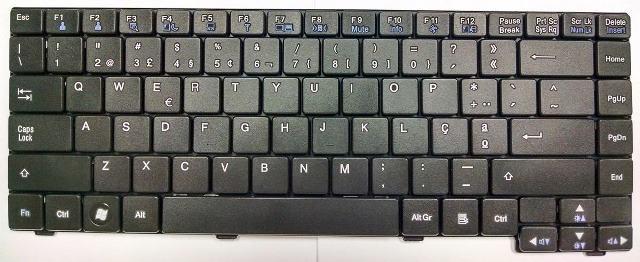 Teclado Notebook LG R480 Preto - Seminovo