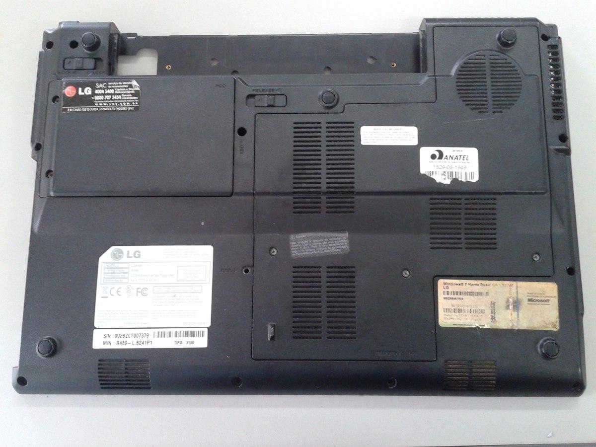 Carcaça Chassi Base Notebook LG R480 Preto - Seminovo