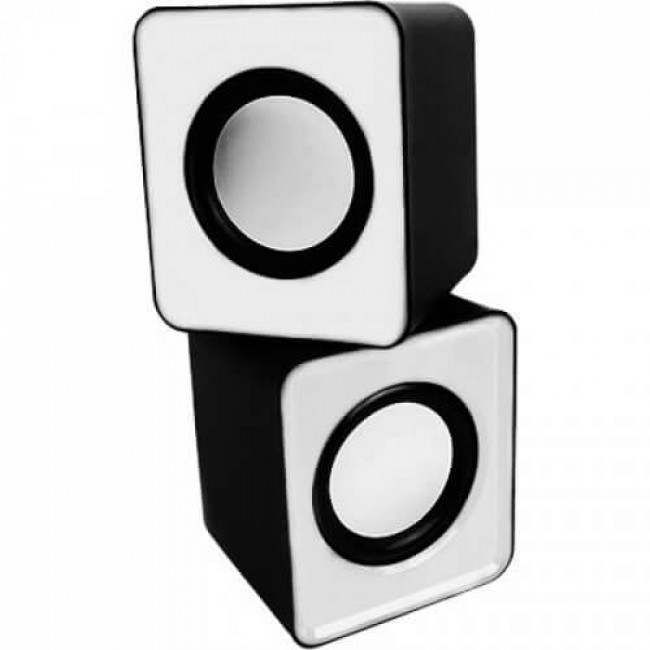 Mini Alto Falante Caixa de Som Branca USB 3W RMS KP-609