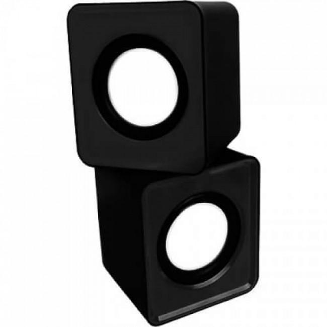 Mini Alto Falante Caixa de Som Preta USB 3W RMS KP-609