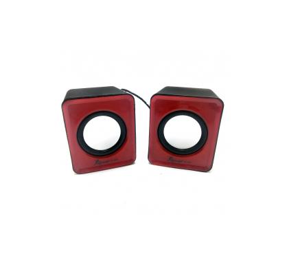 Mini Alto Falante Caixa de Som Vermelha USB 3W RMS KP-609