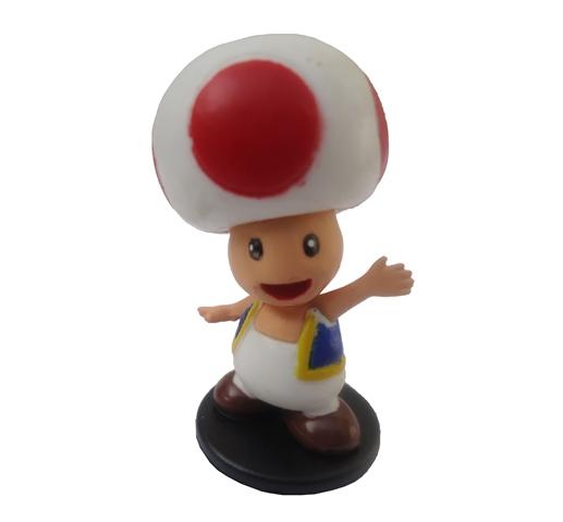 Boneco Colecionável Super Mario - Toad Vermelho