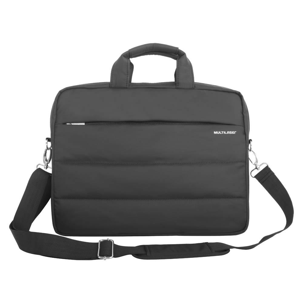 Maleta Case de Nylon Notebook Multilaser C/ Compartimentos Extra Preto - Até 15,6