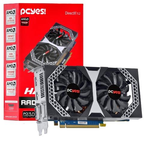Placa de Vídeo VGA PcYes AMD Radeon R7 260X 2GB DDR5 128-Bit PCI-Express 3.0 - H260XQM2GD