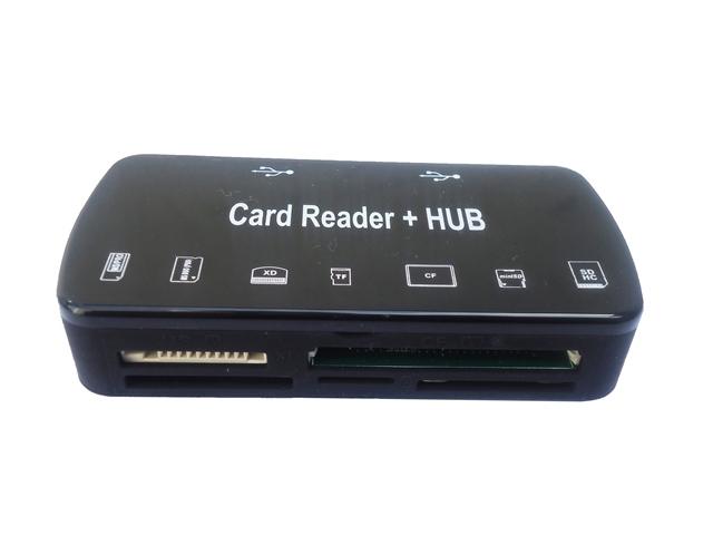 Multi Leitor de Cartões Card Reader e Hub USB 2.0