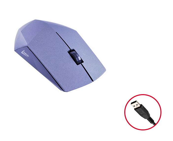 Mouse Óptico Leadership Diamond 1238 USB 1200Dpi - Cinza