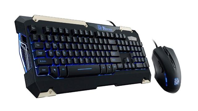 Kit Teclado e Mouse Gamer Commander Thermaltake KB-CMC-PLBLPB-01