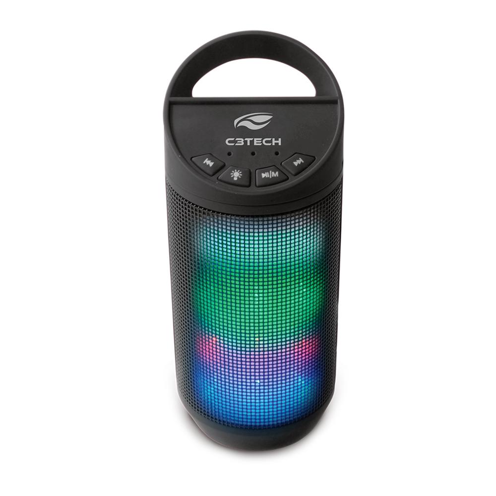 Caixa de Som Portátil Beat C3Tech Bluetooth 8 Watts RMS USB 2.0 WMA/MP3 Preto - SP-B50BK