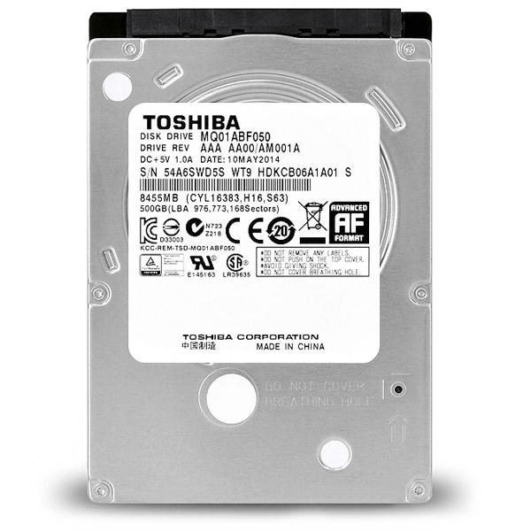 HD Notebook Toshiba MQ01ABF050 SATA 500GB 5400Rpm 2.5 Polegadas