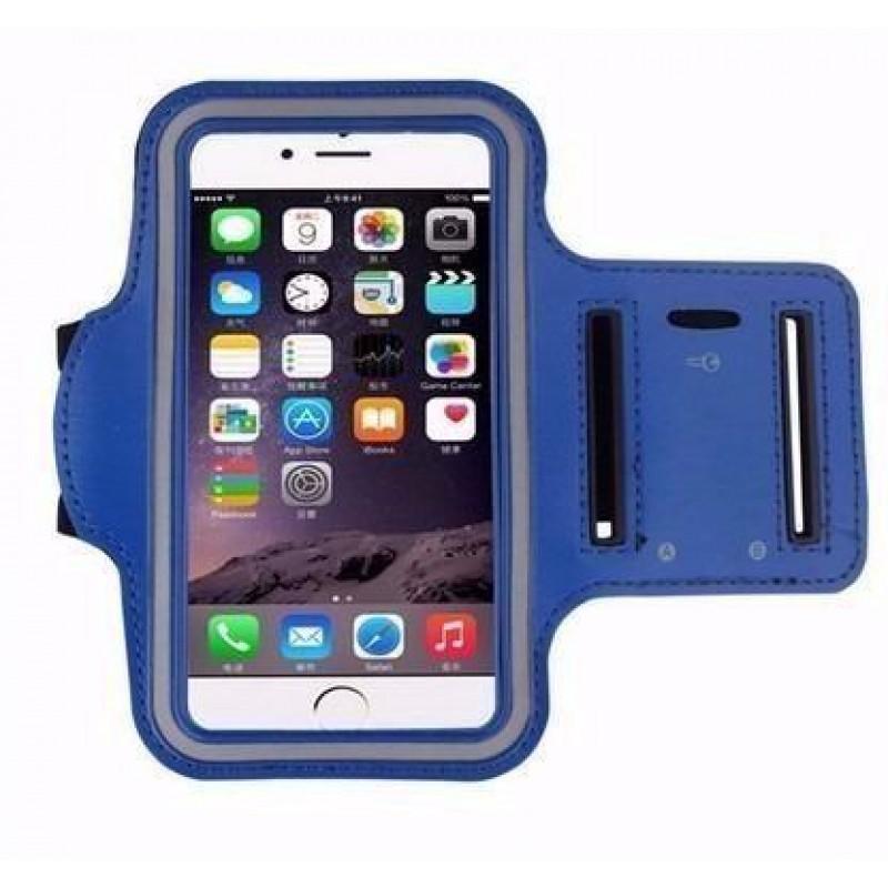 Capa protetora de celular de Braço Braçadeira de Neoprene 3.5 Polegadas iPhone 4 4s - Azul