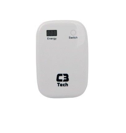 Power Bank Carregador Universal Multifunção C3 Tech Branco UC-6000WH