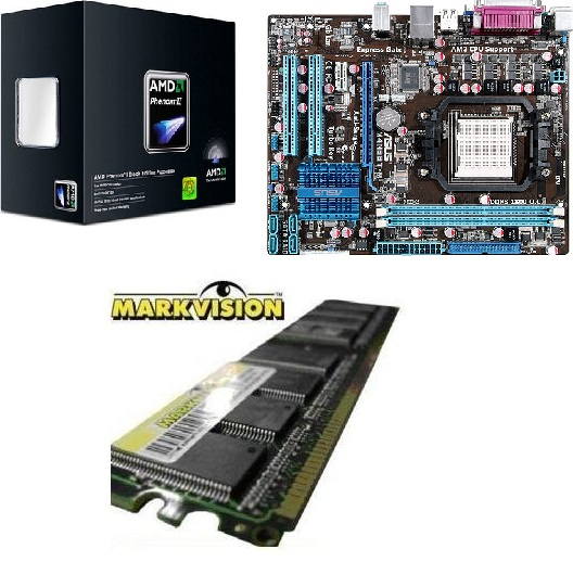 Kit PROCESSADOR X6 1090T + ASUS M4N68T-M LE / 4GB MARKVISION