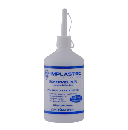 Álcool Isopropílico Implastec Isopropanol 250ml M-9170