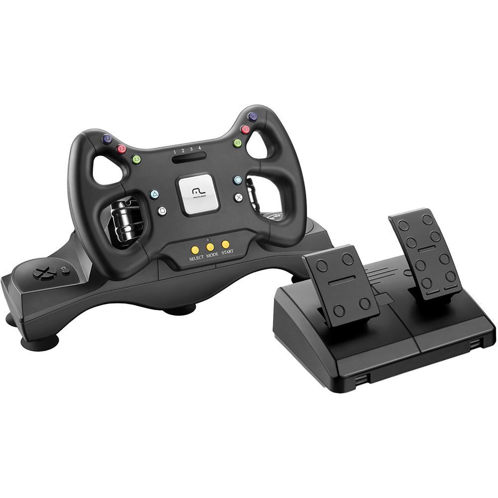 Volante 2 em 1 Marcha e Pedal Fórmula 1 Xbox360 / PC - Multilaser JS069