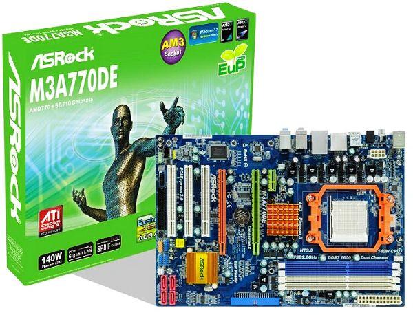 PLACA MÃE AM3 ASROCK  M3A770DE DDR3 CROSS FIRE