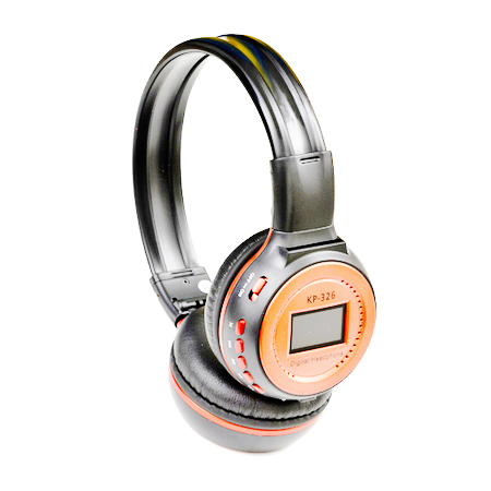 Fone de Ouvido Knup Micro USB Rádio FM 76-108Mhz Laranja - KP-326