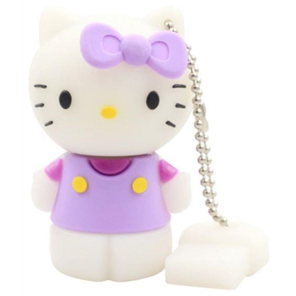 Pen Drive Hello Kitty Lilás USB 2.0 8GB