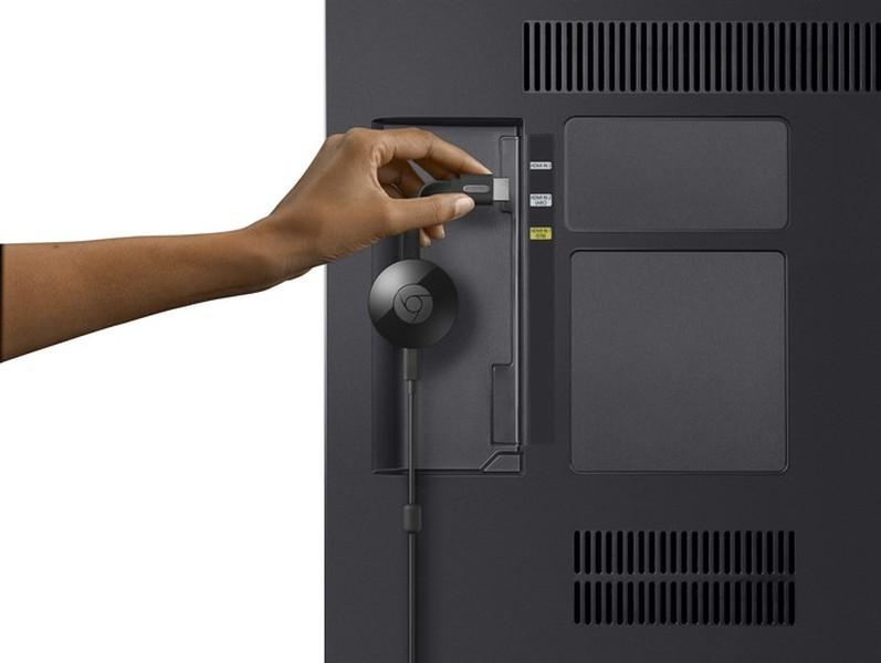 Adaptador Chrome cast 2 TV HDMI Google USB 1080p Wi-fi Preto NC2-6A5