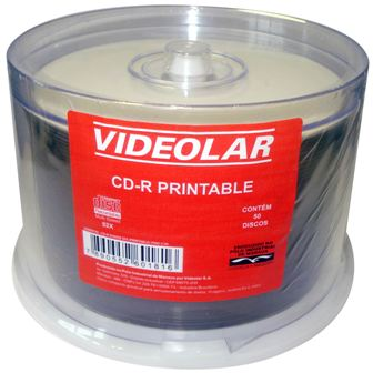CD-R PRINTABLE C/ 50 UNIDADES VIDEOLAR