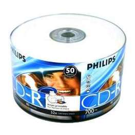 CD-R Printable 700MB 80min 52X Philips c/ 50 unidades