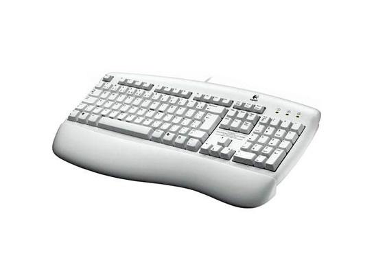 Teclado Deluxe Keyboard PS/2 Branco - Logitech