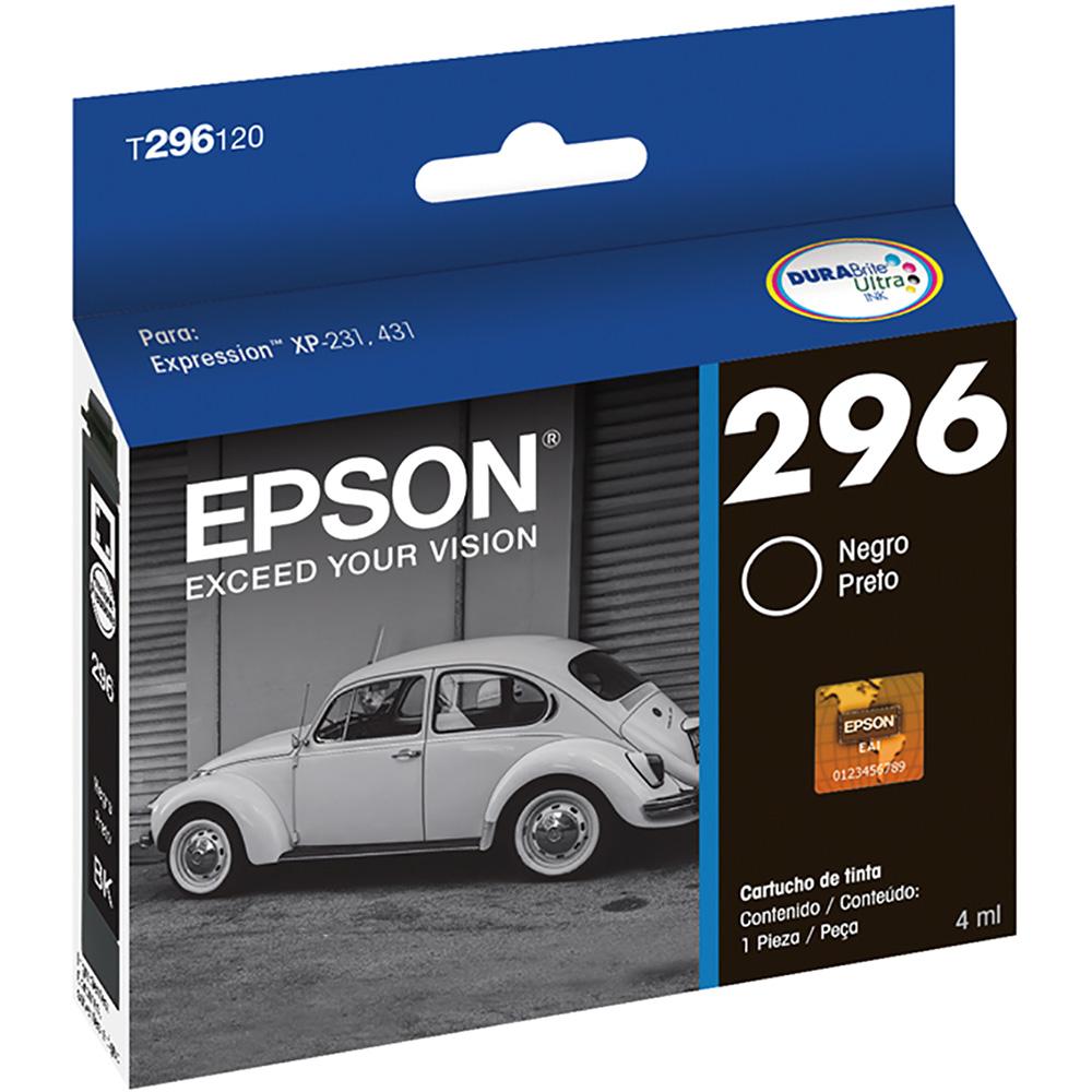 Cartucho 296 Preto Impressora Epson Xp231 / Xp431