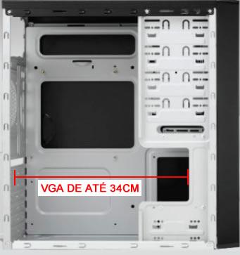 GABINETE CASEMALL FURION CB-341 RED LED  (CABE VGA ATÉ 34CM)