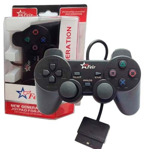 Controle Joystick Joypad Dual Shock Feir Playstation 2 - Preto