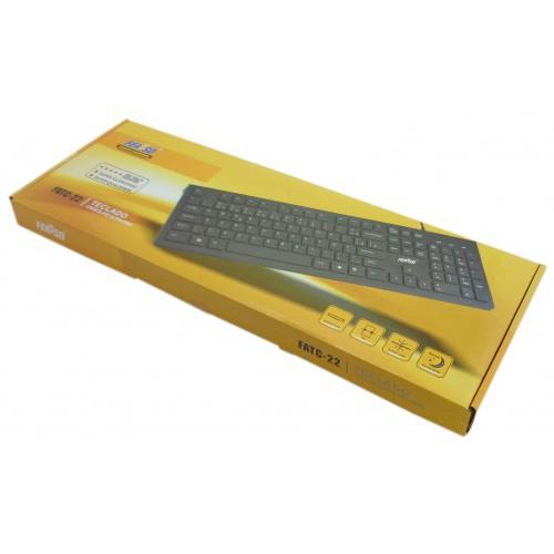 Teclado Ultra Fino Feasso Chocolate USB  FATC-22