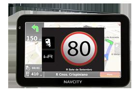 GPS NAVCITY NC 450 TV Digital, funções multimídia, navegador Rota Certa, HunteRadar, Bluetooth e Transmissor FM.
