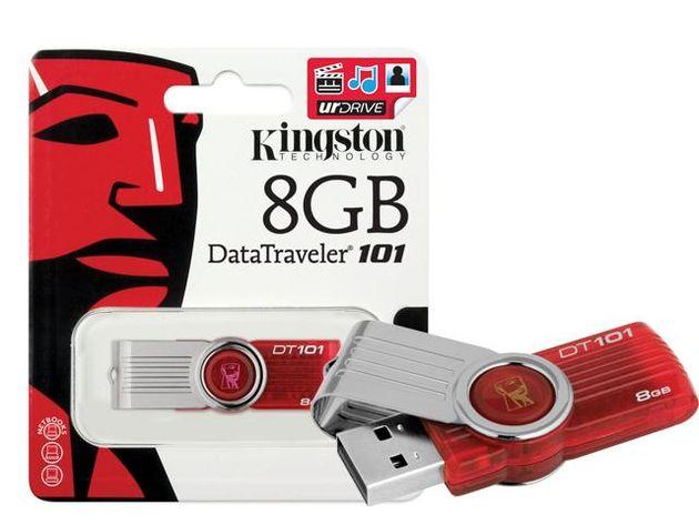 Pen drive 8Gb Kingston DT101G2/8GB Vermelho USB 2.0