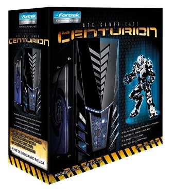 Gabinete Gamer Preto/Azul Fortrek Centurion