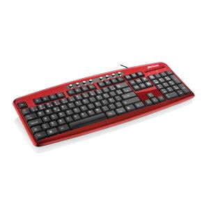 Teclado Multimídia Steel USB Vermelho Multilaser TC133