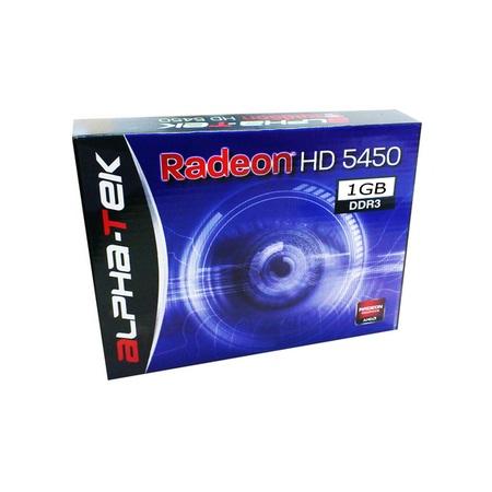 ATI RadeON HD5450 1GB DDR3 64bits - VGA/DVI/HDMI - PCI-E - Alpha-Tek