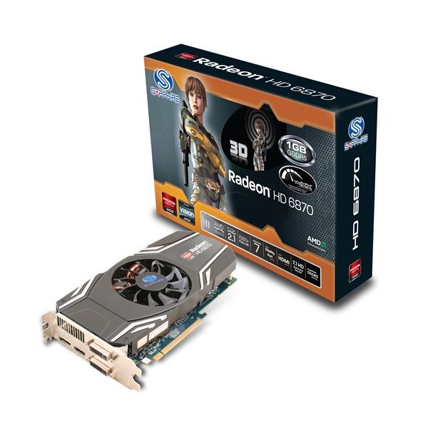 GPU HD6870 1GB DDR5 PCIE SAPPHIRE 314-3L