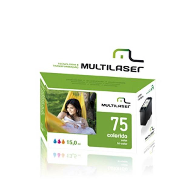 Cartucho Multilaser CO75X 75XL Compatível Impressora Photosmart C4280 - Colorido