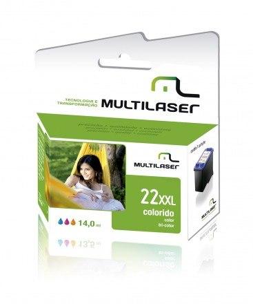 Cartucho Multilaser 22xl Colorido 14ml Compatível - CO022
