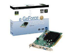 VGA 7200GS 256MB DDR2 512MB TC PCIE EVGA 256P2N429LR