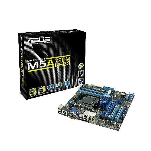 Placa-Mãe ASUS p/ AMD AM3+ mATX M5A78L-M/USB3, 4xDDR3, HDMI/DVI/VGA, USB 3.0 Boost, Proc 140W, Porta Serial, Saída SPDIF