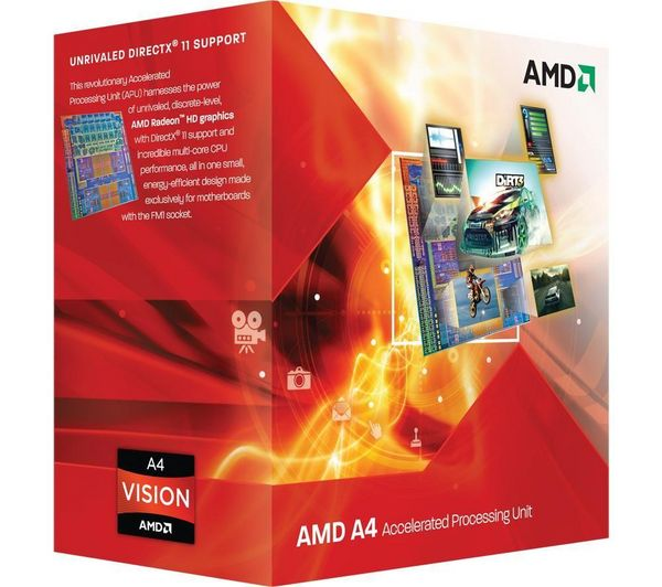 AMD A4 X2 3300 - 2,5 GHz - Cache L2 1 MB - Socket FM1 (AD3300OJGXBOX)