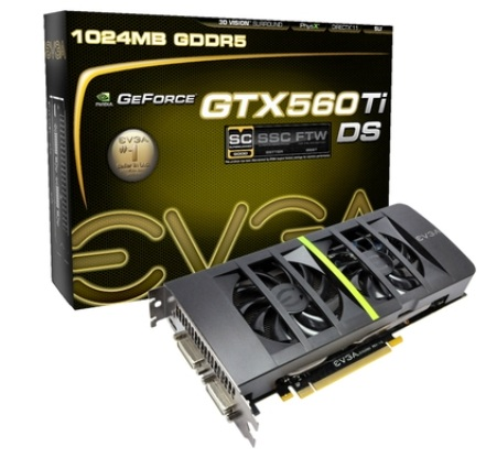 VGA EVGA GeForce GTX560TI DS 1GB DDR5 PCIE 01G-P3-1567-KR